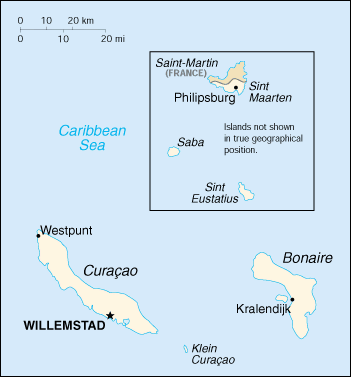 Netherlands Antilles : map