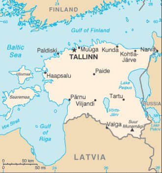 Estonia : maps
