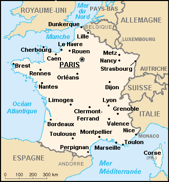 France : map