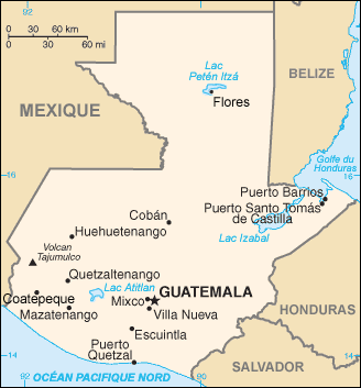Guatemala : map