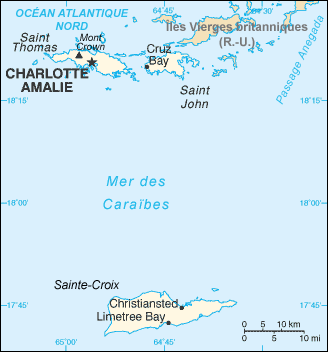 US Virgin Islands : maps