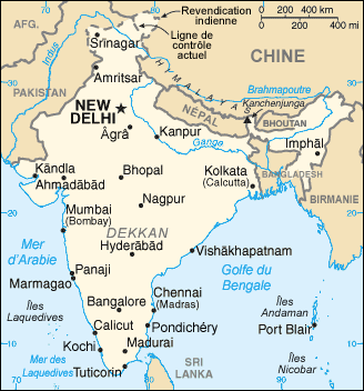 India : map