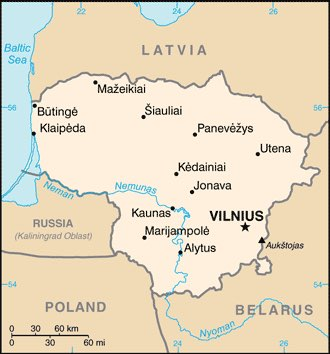 Lithuania : map