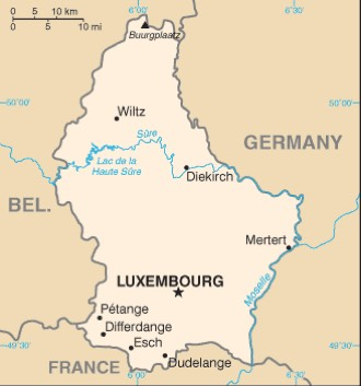 Luxembourg : maps
