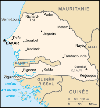 Senegal : map